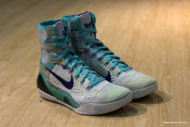 """best loved 61d81 77059 The Kobe 9 Elite """"Hero"""" reflects Kobe s ability to push performance, all in  the name of an fast action-packed game. The futuristic pair features the  Flyknit ..."""