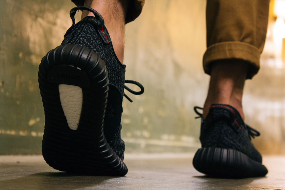 Yeezy Boost 350 Pirate Black On Feet