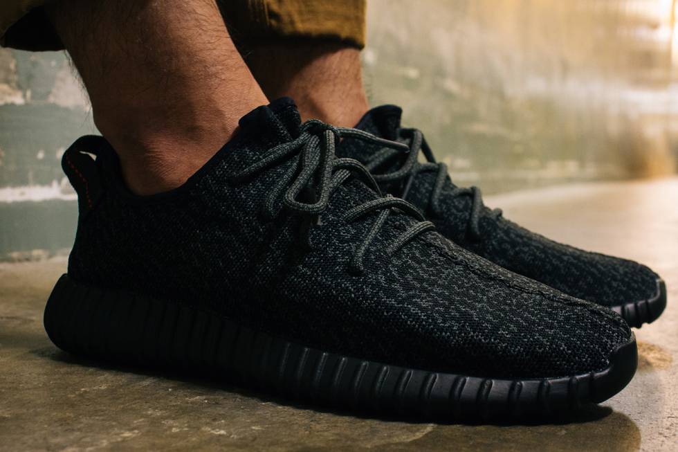 Yeezy Pirate Black On Feet