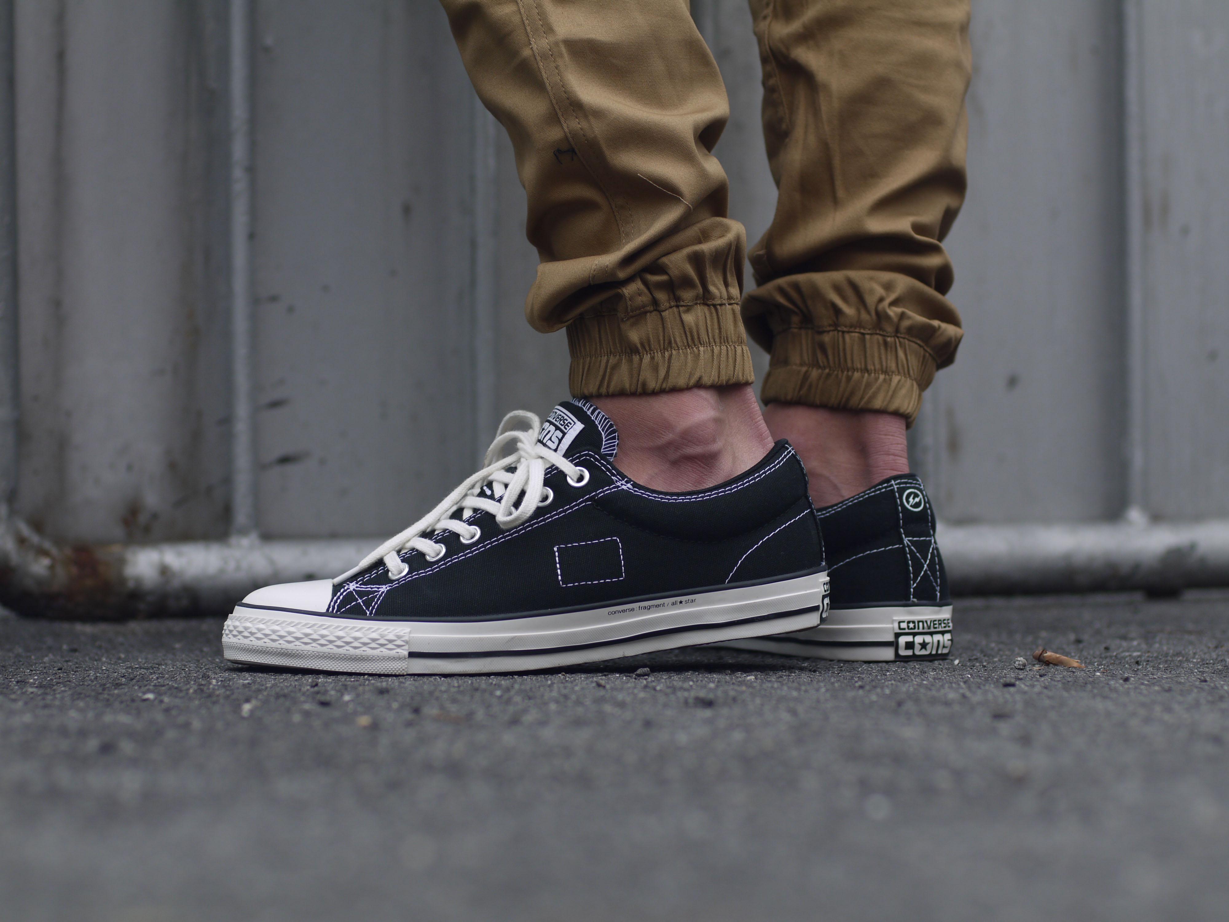 Converse footjob