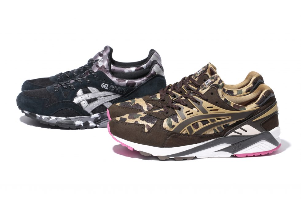 bape x asics tiger collection