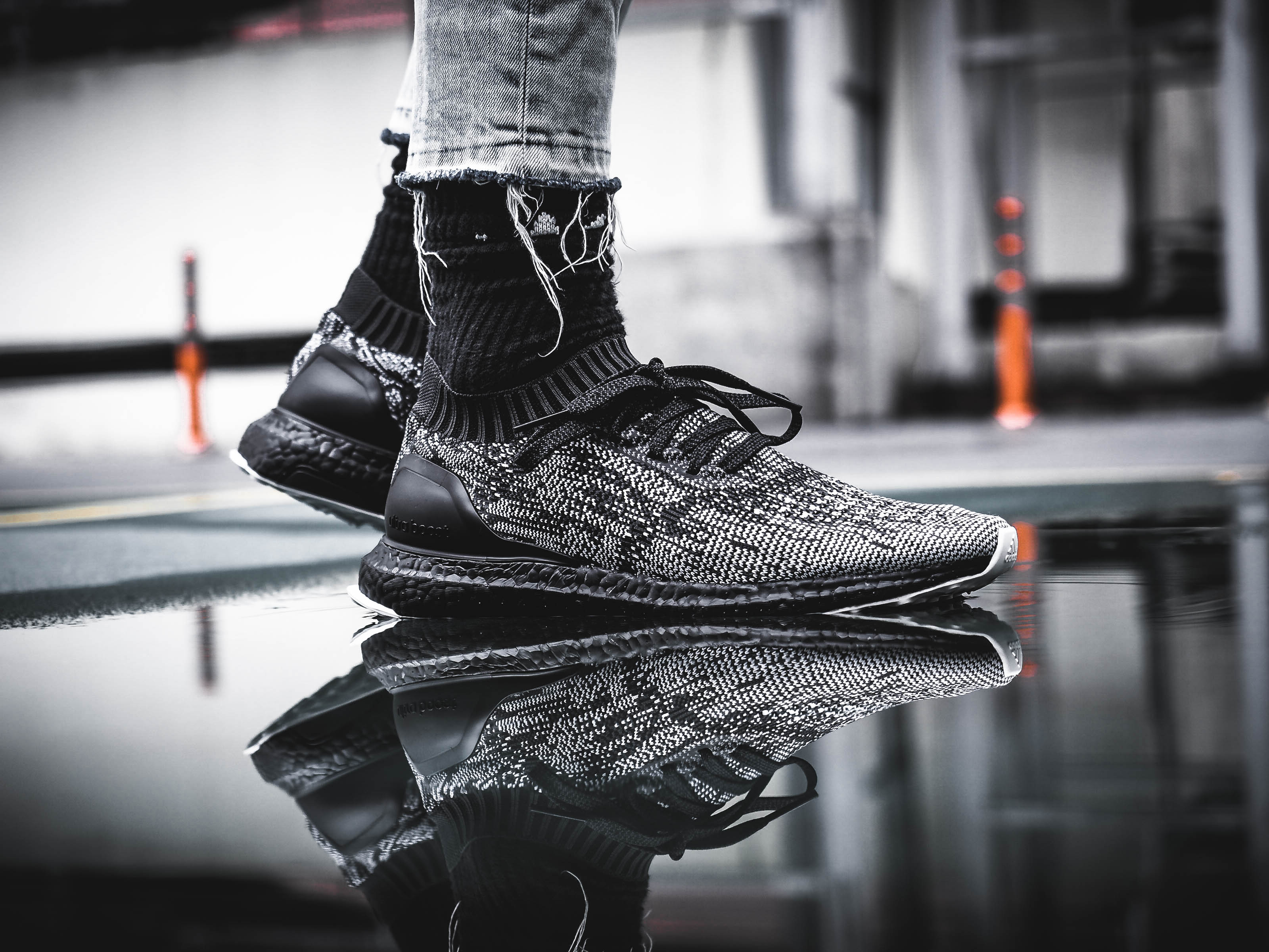 The Adidas Ultra Boost Uncaged Black