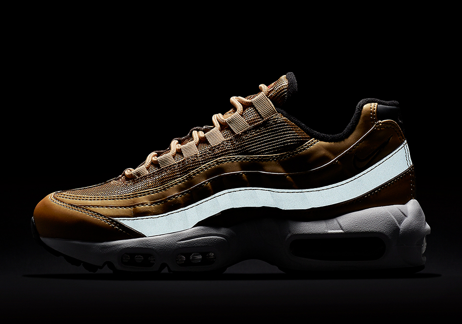 ee382b8be73 ... 95 Carbon Black Gold Trainer Nike Releases The Air Max .