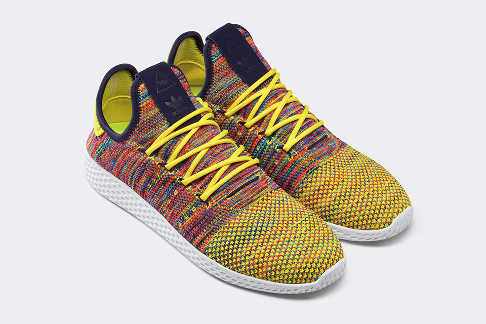 Pharrell Williams x adidas Originals Colourful Tennis Hu hit stores  tomorrow. - MASSES 73c0030309