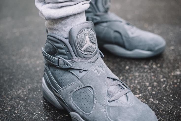 28fcf06fc3e5 Nike Air Jordan 8 Retro  Cool Grey  - MASSES