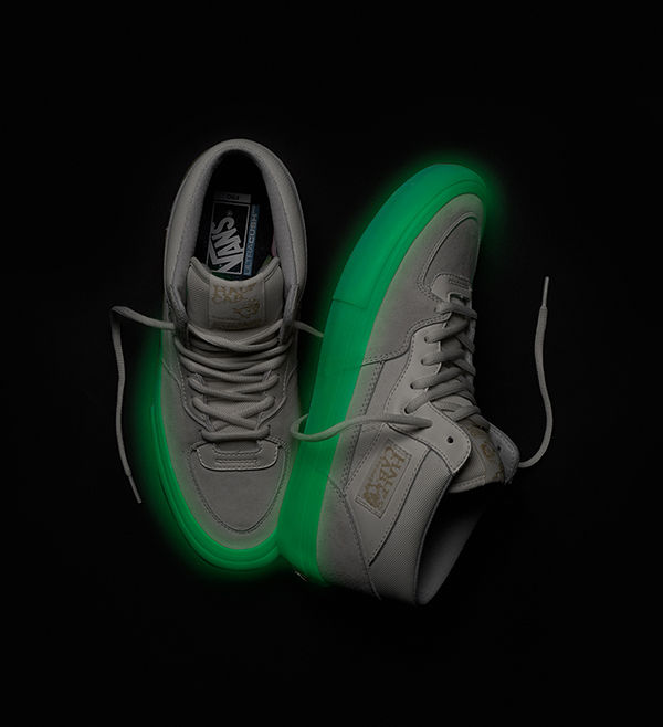 4174e1a1dd5b57 Vans And Pyramid Country Half Cab Pro Skate Shoe Glows In The Dark ...