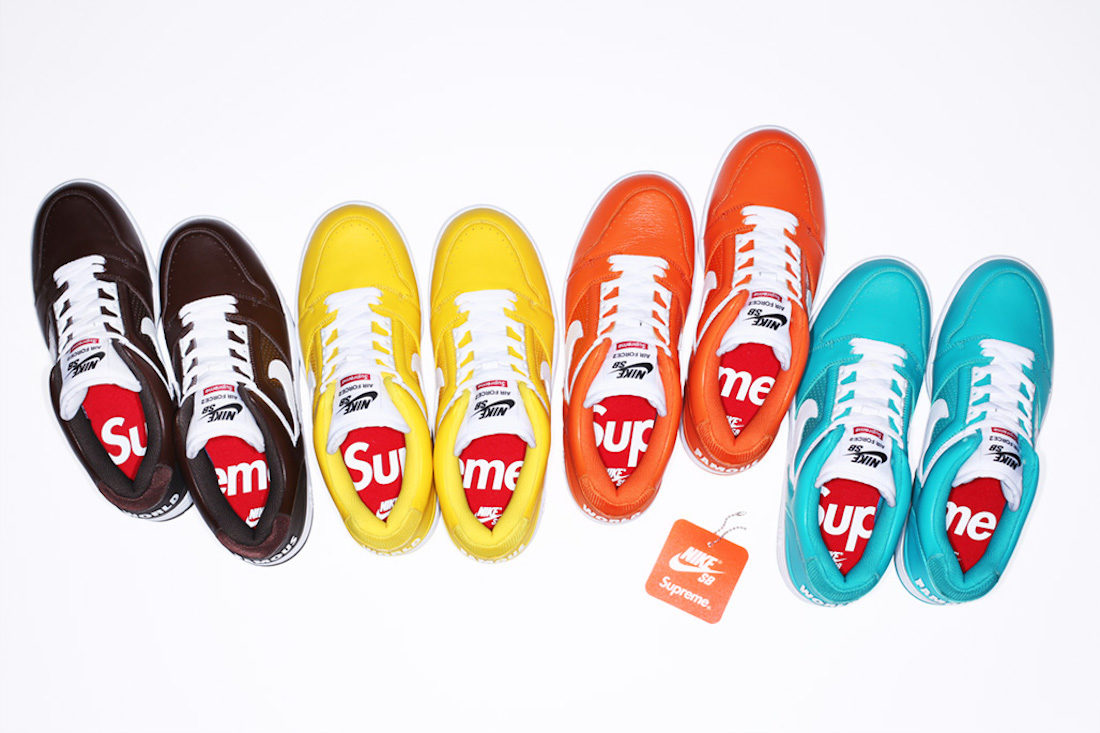 Becoming Phill) Nike sb air force 2 low x supreme yellow
