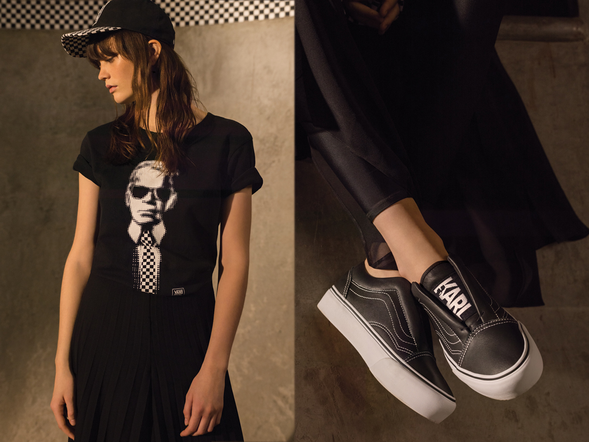 726337337ace Vans and KARL LAGERFELD unveil Fall 17 collection - MASSES