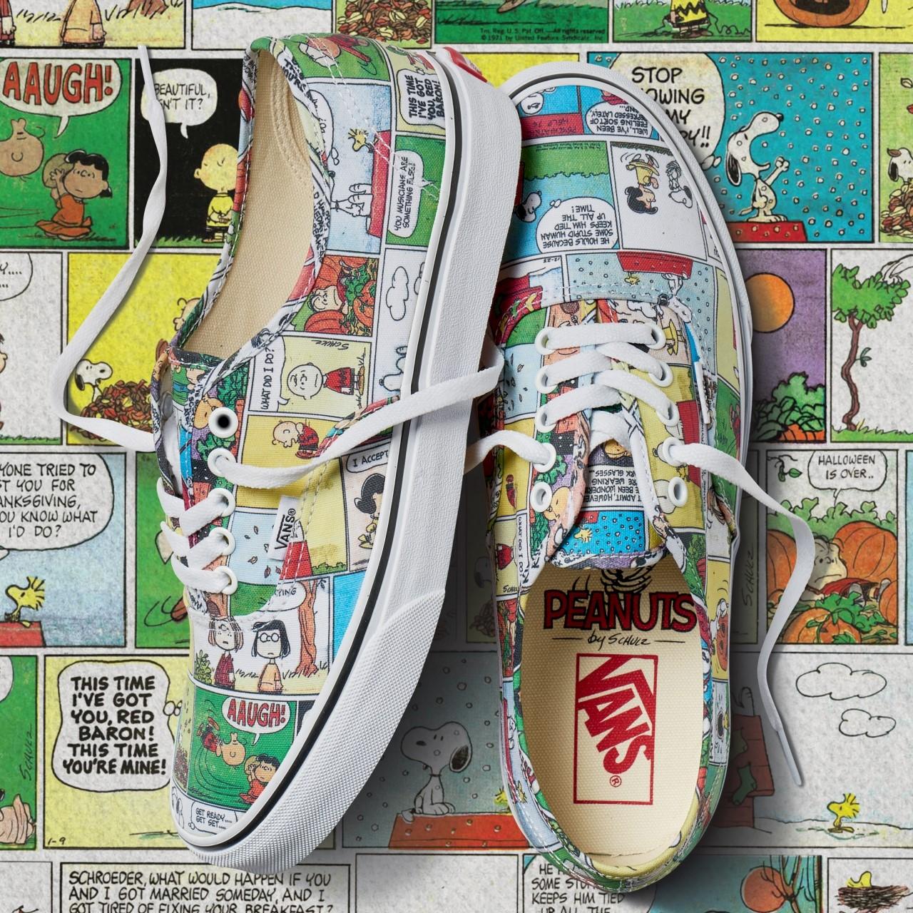 vans x peanuts comic