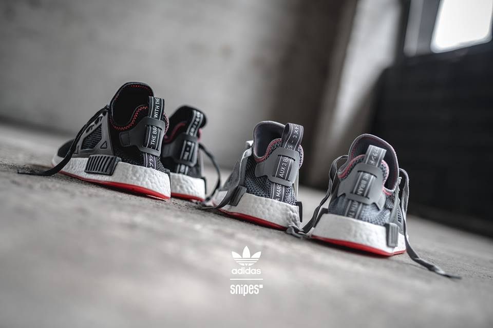 adidas nmd r1 core black solid grey white red ultra boost xr1