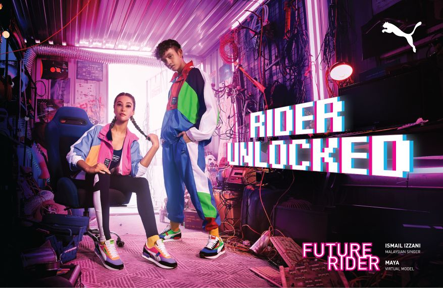 Reposición Depresión Delincuente  Southeast Asia's Virtual Influencer Fronts The Reinvented PUMA Rider -  MASSES